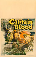 Movie Posters:Adventure, Captain Blood (Warner Brothers, 1935). Fine on Cardstock.