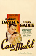 Movie Posters:Comedy, Cain and Mabel (Warner Brothers, 1936). Fine/Very Fine on ...
