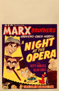 Movie Posters:Comedy, A Night at the Opera (MGM, R-1948). Fine on Cardstock....