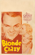 """Movie Posters:Comedy, Blonde Crazy (Warner Brothers, 1931). Fine+. Window Card (14"""" X 22"""").. ..."""