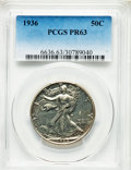 1936 50C PR63 PCGS. PCGS Population: (241/1584). NGC Census: (119/1142). CDN: $1,400 Whsle. Bid for problem-free NGC/PCG...