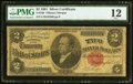 Large Size:Silver Certificates, Fr. 246 $2 1891 Silver Certificate PMG Fine 12.. ...