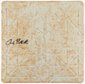 Autographs:Others, 2013 Andy Pettitte Signed Game Used Base....