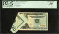 Printed Foldover Error Fr. 2093-G $20 2006 Federal Reserve Note. PCGS Extremely Fine 40