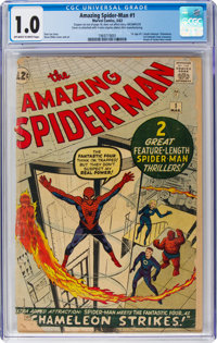 The Amazing Spider-Man #1 (Marvel, 1963) CGC FR 1.0 Off-white to white pages