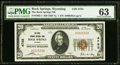 National Bank Notes:Wyoming, Rock Springs, WY - $20 1929 Ty. 1 The Rock Springs NB Ch. # 4755 PMG Choice Uncirculated 63.. ...