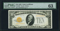 Fr. 2400 $10 1928 Gold Certificate. PMG Choice Uncirculated 63
