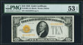 Fr. 2400 $10 1928 Gold Certificate. PMG About Uncirculated 53 EPQ
