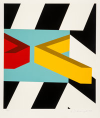 Allan D'Arcangelo (1930-1998) Caves, 1979 Serigraph in colors on paper 31 x 26 inches (78.7 x 66