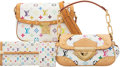 Luxury Accessories:Bags, Louis Vuitton Set of Four: White Monogram Multicolore Sologne Bag, Beverly Bag, Porte-Tresor International Wallet & Card Holde... (Total: 4 Items)