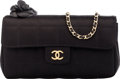 "Luxury Accessories:Bags, Chanel Black Quilted Satin Small Shoulder Bag with Gold Hardware. Condition: 1. 7"" Width x 4"" Height x 2"" Depth. ..."