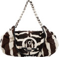 "Luxury Accessories:Bags, Christian Dior Brown & White Cowhide Shoulder Bag. Condition: 2. 15"" Width x 8"" Height x 6"" Depth. ..."