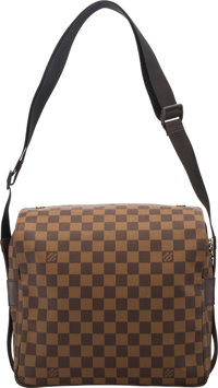 "Louis Vuitton Damier Ebene Coated Canvas Naviglio Messenger Bag Condition: 1 11"" Width x 11"" Height x 5.5""..."