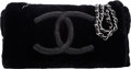 """Luxury Accessories:Bags, Chanel Black Rabbit Fur Small Flap Bag. Condition: 2. 10.5"""" Width x 6.5"""" Height x 2"""" Depth. ..."""