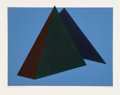 Prints & Multiples:Contemporary, Jean-Marie Haessle (b. 1939). Bermuda Triangle, 1980. Serigraph in colors on wove paper. 23-1/8 x 29-1/8 inches (58.7 x ...