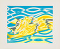 Prints & Multiples:Contemporary, Stanley William Hayter (1901-1988). Untitled 4, from the Aquarius Suite, 1970. Silkscreen in colors on smooth wove p...