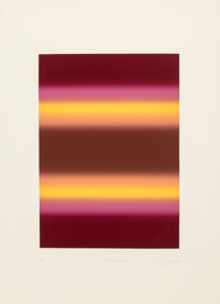Barry Nelson (b. 1937) Parallax XVII, 1981 Etching with aquatint in colors on wove paper 30 x 22