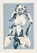 Prints & Multiples:Print, Lowell Nesbitt (1933-1993). White Iris on Blue II, 1980. Serigraph in colors on wove paper. 40-1/2 x 28-1/4 inches (102....