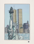 Prints & Multiples:Print, Cindy Wolsfeld (b. 1953). Statue of Liberty, 1985. Serigraph in colors on wove paper. 33-1/2 x 25-1/2 inches (85.1 x 64....