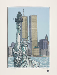 Cindy Wolsfeld (b. 1953) Statue of Liberty, 1985 Serigraph in colors on wove paper 33-1/2 x 25-1/