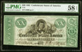 Confederate Notes:1861 Issues, T21 $20 1861 PF-6 Cr. 146 PMG Choice About Unc 58 EPQ.. ...