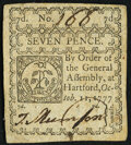Colonial Notes:Connecticut, Connecticut October 11, 1777 7d Very Fine.. ...