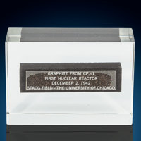 Graphite Brick CP-1 Chicago Pile -1 Site of the First Self Sustaining Nuclear Reaction Stagg Field - The Univer... (Tota...
