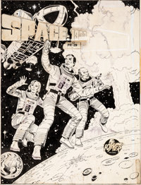 Neal Adams and Dick Giordano Space: 1999 #PR-29 Cover Original Art and Book and Record Set (... (Total: 2)
