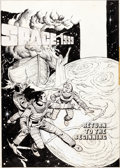 "Original Comic Art:Covers, Dick Giordano and Neal Adams Studio Space: 1999 #PR32 Front and Back Cover Original Art and ""Book and Record"" Set ... (Total: 3 Items)"