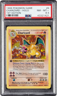 Pokémon Charizard #4 First Edition Base Set Rare Hologram Trading Card (1999) PSA NM-MT+ 8.5
