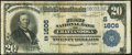 National Bank Notes:Tennessee, Chattanooga, TN - $20 1902 Plain Back Fr. 651 The First National Bank Ch. # (S)1606 Fine-Very Fine.. ...