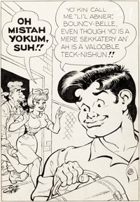Al Capp and Frank Frazetta Li'l Abner and the Creatures from Drop-Outer Space (#nn) Story Page 2 Illustration Orig