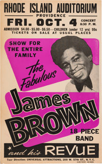 James Brown Classic 1968 Boxing-Style Globe Concert Poster