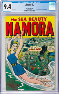 Namora #2 Mile High Pedigree (Timely, 1948) CGC NM 9.4 White pages