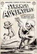 Original Comic Art:Covers, Murphy Anderson Strange Adventures #21 Cover Original Art (DC, 1952)....
