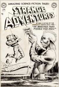 Murphy Anderson Strange Adventures #21 Cover Original Art (DC, 1952)