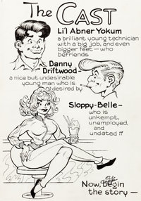 Al Capp and Frank Frazetta Li'l Abner and the Creatures from Drop-Outer Space (#nn) Story Page 1 Illustration Orig