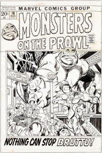 Gil Kane and Vince Colletta Monsters on the Prowl #18 Cover Original Art (Marvel, 1972)