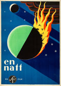 Movie Posters:Foreign, One Night (Svensk Filmindustri, 1931). Rolled, Very Fine.