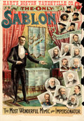 """Movie Posters:Miscellaneous, Sablon: The Most Wonderful Mimic and Impersonator (c.1905). Fine- on Paper. Theatrical Poster (28"""" X 40"""").. ..."""