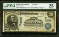 National Bank Notes:Wyoming, Douglas, WY - $20 1902 Date Back Fr. 644 The Fi...