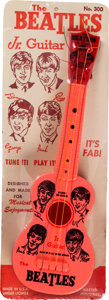 Music Memorabilia:Memorabilia, The Beatles Jr. Original Toy Guitar by Mastro (NEMS, 1964). . ...
