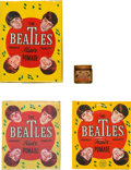 Music Memorabilia:Memorabilia, The Beatles Hair Pomade Sealed Boxes Plus Mini Jar (Philippines). . ...
