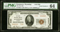 National Bank Notes:Wyoming, Kemmerer, WY - $20 1929 Ty. 2 The First NB Ch. # 5480 PMG Choice Uncirculated 64.. ...
