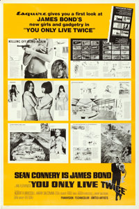 """You Only Live Twice (United Artists, 1967). Rolled, Very Fine. Poster (40"""" X 60"""") Esquire Magazine Style. Robe..."""