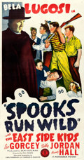 "Movie Posters:Comedy, Spooks Run Wild (Monogram, 1941). Very Fine on Linen. Three Sheet(41.5"" X 78.75"").. ..."