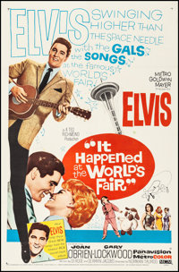 "It Happened at the World's Fair (MGM, 1963). Very Fine on Linen. One Sheet (26.75"" X 41.5""). Elvis Presley. Fr..."