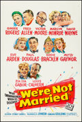 "Movie Posters:Comedy, We're Not Married (20th Century Fox, 1952). Fine/Very Fine onLinen. One Sheet (27.25"" X 41""). Comedy. From the Co..."
