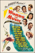 """Movie Posters:Musical, Words and Music (MGM, 1948). Fine/Very Fine on Linen. One Sheet (27.25"""" X 41""""). Musical. From the Collection of Frank Buxt..."""
