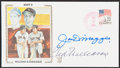 Autographs:Post Cards, 1985 Williams & DiMaggio Dual-Signed First Day Cover....